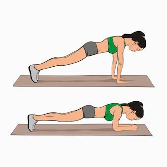 Plank übung variationen bild