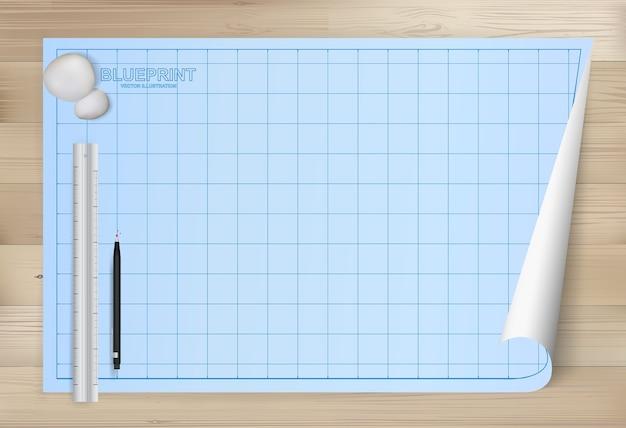 Planpapierhintergrund für architekturzeichnung.
