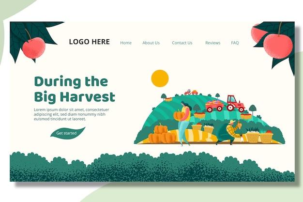 Plant harvest landing page vorlage