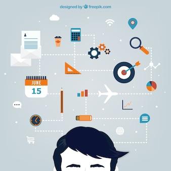 Planung konzept infografik stil
