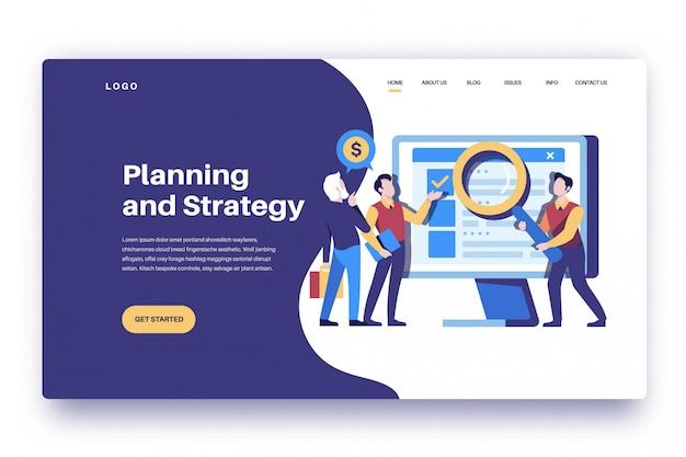 Planung und strategie der zielseite