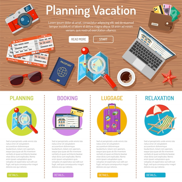Planung von urlaubsinfografiken