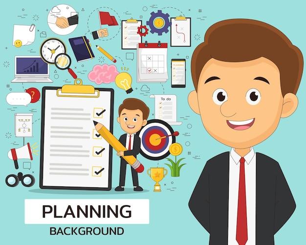 Planungskonzept flache ikonen