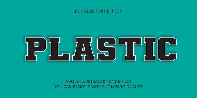 Plastik editierbarer text schrift effekt