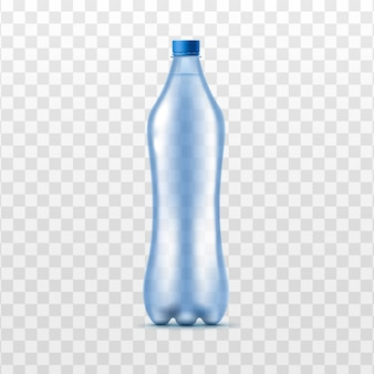 Plastik klares wasserflaschenmodell, realistische illustration isoliert.