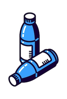 Plastikflasche für mineralwasser oder andere getränke