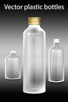 Plastikflasche mit mineralwasser