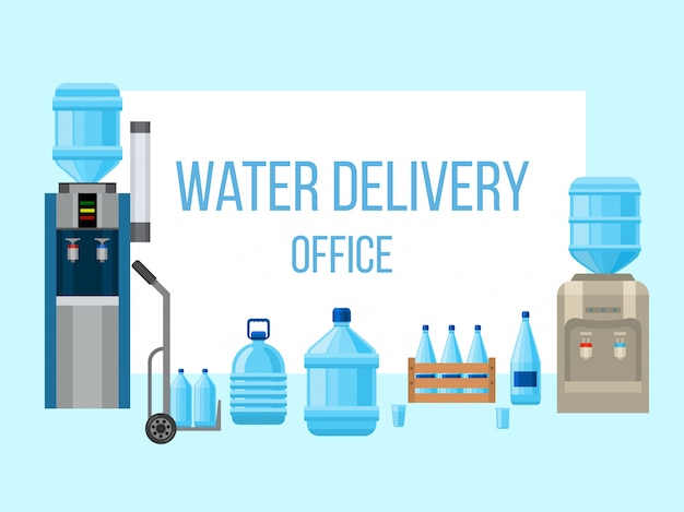 Plastikflaschen für wasserversorgung.