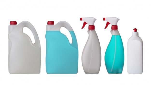 Plastikflaschen gesetzt
