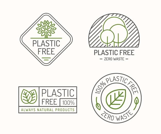 Plastikfreies etikettenset