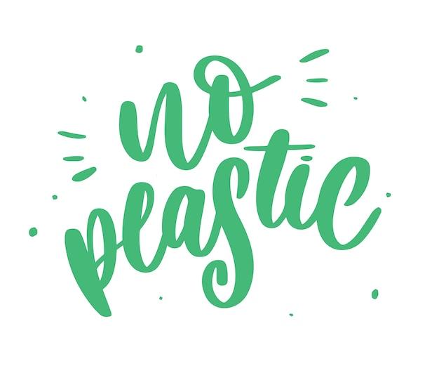 Plastikfreies produktzeichen für aufkleber