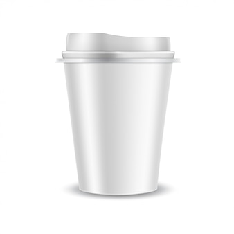 Plastikkaffeetasse Premium Vektoren
