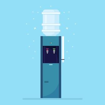 Plastikkühler mit großer voller flasche
