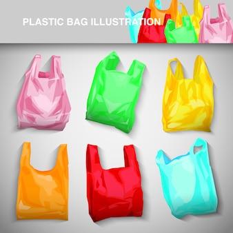 Plastiktüte illustrationsset