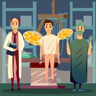 Plastische gesichtschirurgie orthogonale zusammensetzung