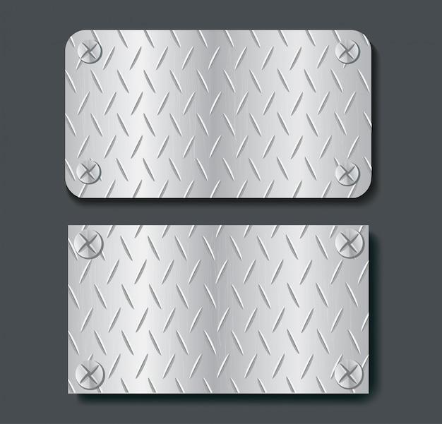 Platte metall banner gesetzt