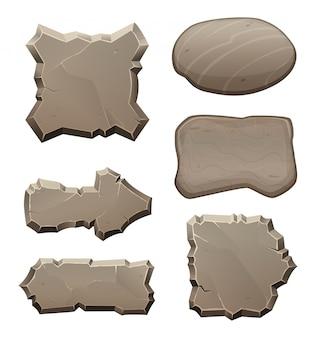 Platten aus steinen und felsen