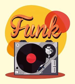 Plattenspieler und vinyl