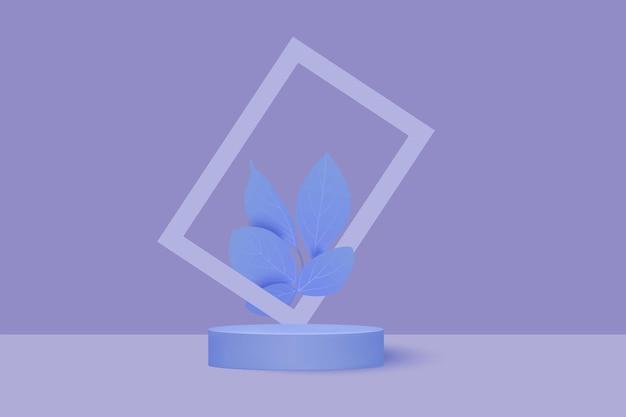 Plattform für produktpräsentationen. minimalistische pastellfarbenrunde bühne.