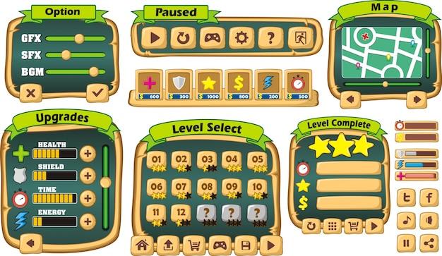 Plattform spiel benutzerschnittstelle