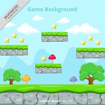 Plattform-spiel, hintergrund