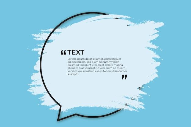 Platz für text mit blauem spritzer
