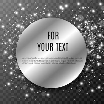 Platz für text. rundes banner. lichter . leuchtet auf einem transparenten hintergrund. platz für text. rundes banner. lichter . leuchtet auf einem transparenten hintergrund.