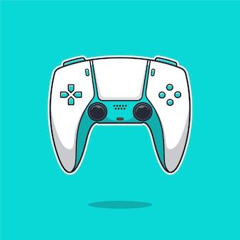 Playstation stick controller cartoon illustration