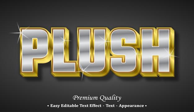 Plüsch 3d schriftstil-effekt