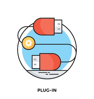 Plugin flache vektor icon