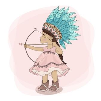 Pocahontas hunt indischer prinzessin-held