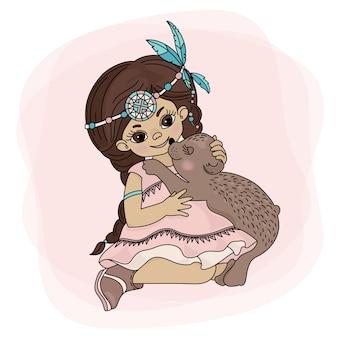 Pocahontas liebe indische prinzessin bär