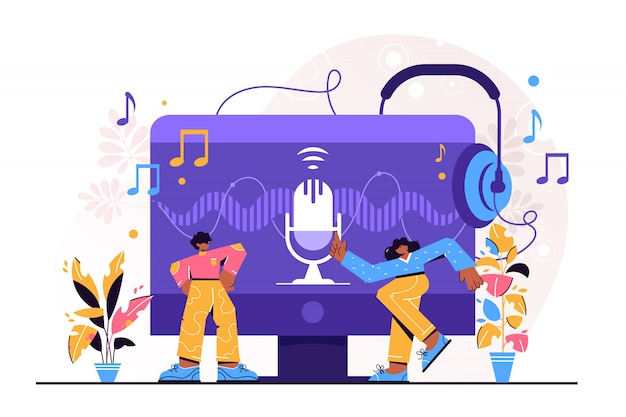 Podcast-illustration