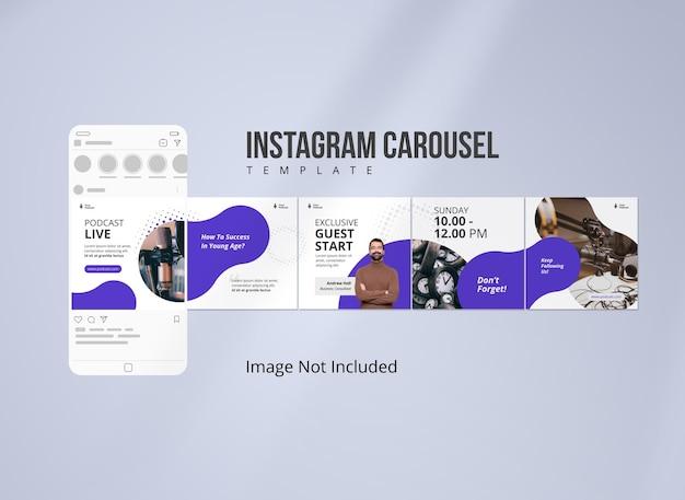 Podcast instagram-karussell-banner-social-media-vorlage