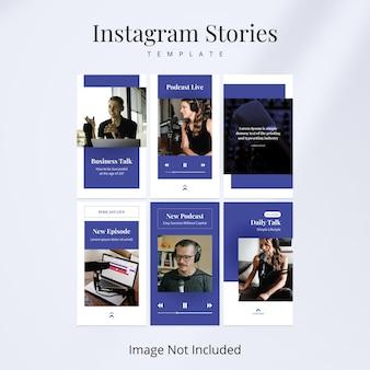 Podcast instagram stories banner-vorlage