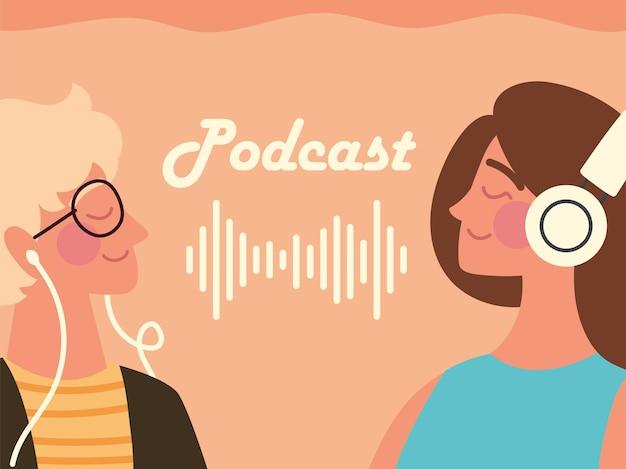 Podcast-jugendliche