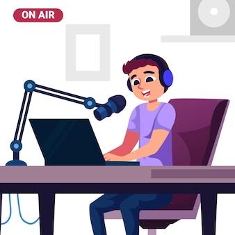 Podcast-konzeptillustration