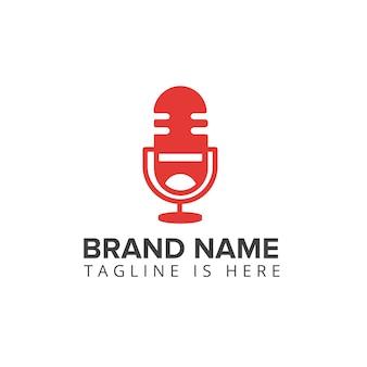 Podcast lachen logo mikrofon