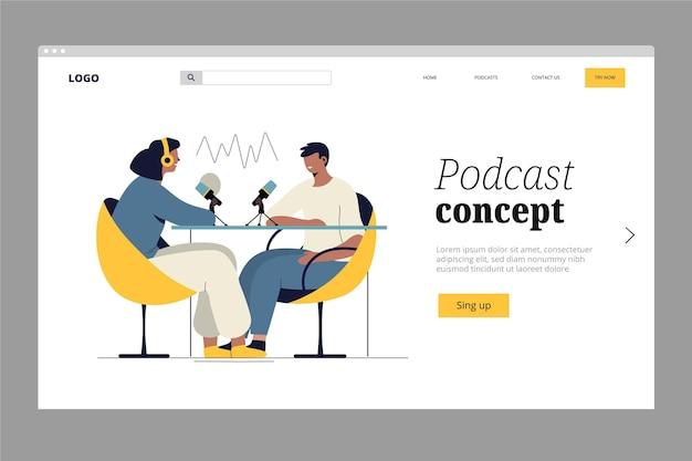 Podcast-landingpage-vorlage