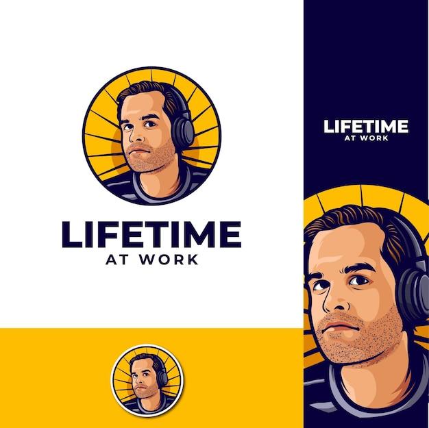 Podcast-logo für die lebenszeit bei der arbeit