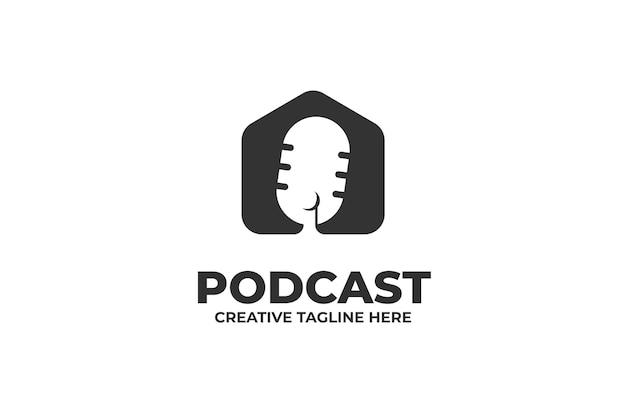 Podcast-mikrofon-talkshow-logo