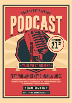 Podcast poster vorlage