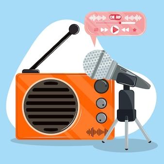 Podcast-radioaufzeichnung