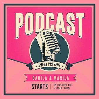 Podcast social media post vorlage