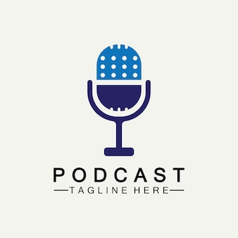 Podcast vektor icon design illustration vorlage