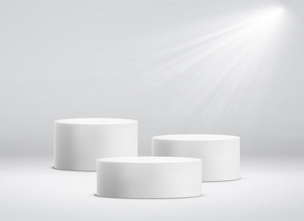 Podest oder podiumsockel mit runder plattform