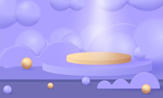 Podesttapete mit geometrischen 3d-formen