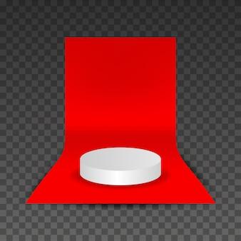 Podium auf rotem teppich vektor
