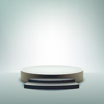 Podium display hintergrund mit kopierraum