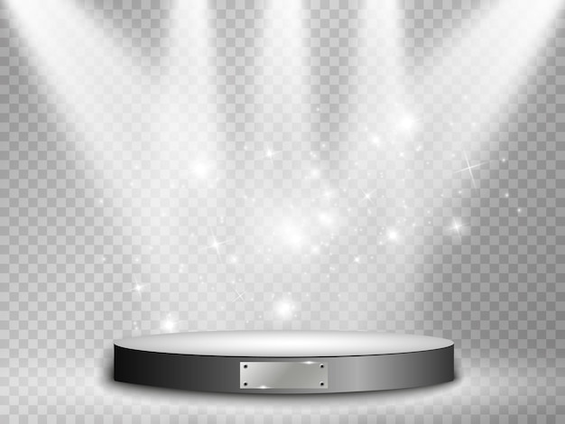 Podium lichteffekt-vektor-illustration
